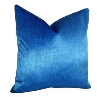 Plutus Lumiere Azure Handmade Throw Pillow