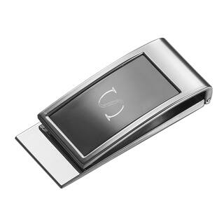 Visol Personalized Monticello Gunmetal Money Clip with Engraved Initial|https://ak1.ostkcdn.com/images/products/14791399/P21311745.jpg?impolicy=medium