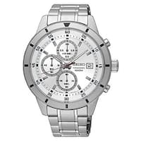 Seiko Men's   Silver Dial Stainless Steel Chronograph with Date