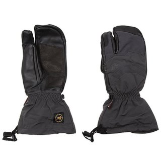 Gordini Men's Elias Gauntlet Three-finger Empyrean Black Ski Gloves