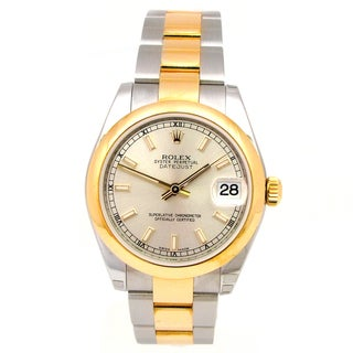 Pre-Owned Rolex Women's 31mm Midsize Two-tone Datejust Watch