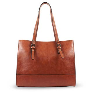 Emilie M. Dakota Faux Leather Shopper Tote Bag|https://ak1.ostkcdn.com/images/products/14791811/P21312106.jpg?impolicy=medium