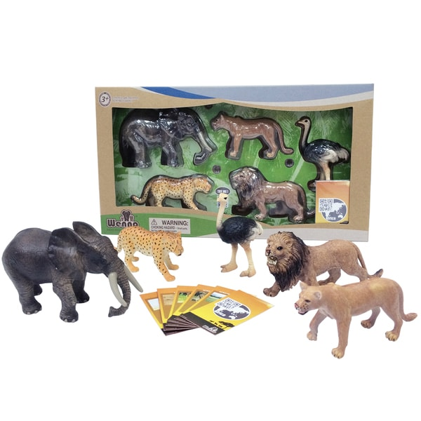 Nature Bound WENNO Jungle Safari Animals Series 1 Toy set