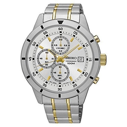 Seiko Men's SKS563 Silver Dial Stainless Steel Chronograph with Date
