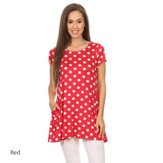 Women's Polka Dot Short Sleeve Tunic