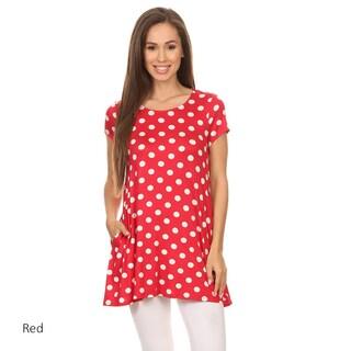 Women's Polka Dot Short Sleeve Tunic (3 options available)