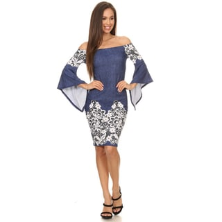 Women's Floral Lace Bodycon Dress