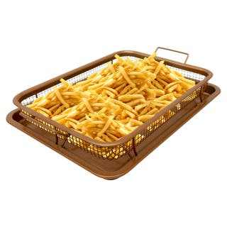 Gotham Steel Ticerama Titanium and Ceramic XL Nonstick Crisper Tray|https://ak1.ostkcdn.com/images/products/14791960/P21312209.jpg?impolicy=medium