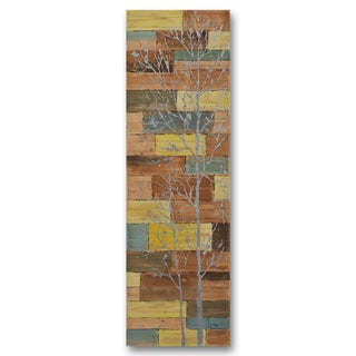 Benjamin Parker 'Shining in Nature' 22-inch by 70-inch Hand-painted Wall Art