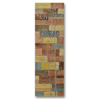 Benjamin Parker 'Shining in Nature' 22-inch by 70-inch Hand-painted Wall Art|https://ak1.ostkcdn.com/images/products/14791973/P21312221.jpg?impolicy=medium