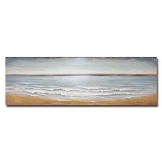 Benjamin Parker 'Ocean's Away' Handpainted Wood Wall Art