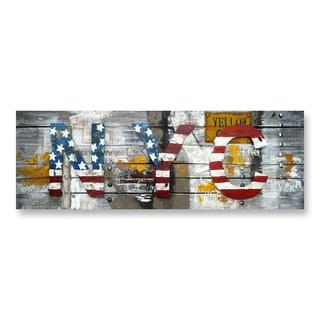 Benjamin Parker 'NYC' Metal on Wood Wall Art