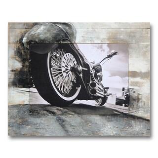 Benjamin Parker 'Upward Perspective' 31-inch x 39-inch Mixed Media Wall Art - Grey