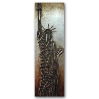 Benjamin Parker 'Lady Liberty' 22-inch x 71-inch Mixed Media Wall Art