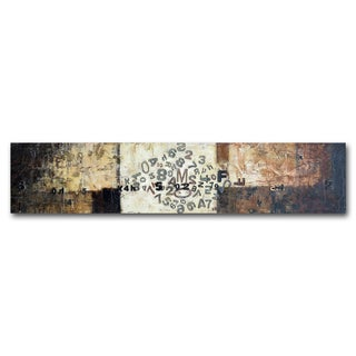 Benjamin Parker 'Letter Scramble' 20-inch x 60-inch Mixed Media Wall Art