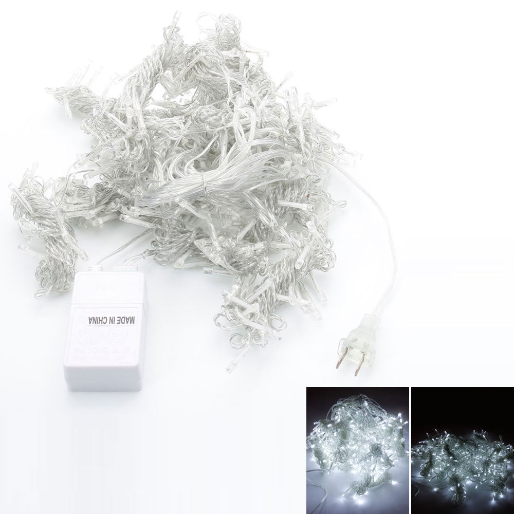 3M x 3M White 300-LED 110V Outdoor Decoration Curtain Str...