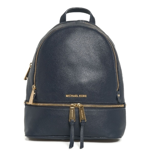 e511658f2 Shop Michael Kors Rhea Zip Large Admiral Leather Backpack - Free Shipping  Today - Overstock - 14792092