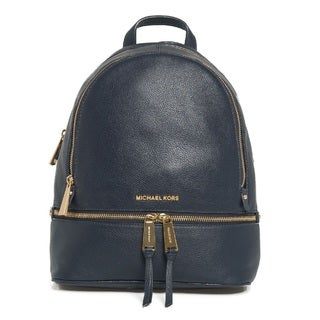 Michael Kors Rhea Zip Large Admiral Leather Backpack