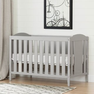 South Shore Angel Crib & Toddler's Bed, with Mattress