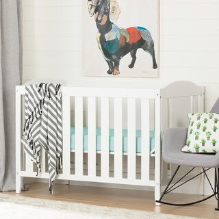 South Shore Cuddly Crib and Toddler's Bed, Pure White