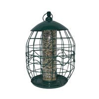 North States Green Metal Squirrel-free Tube Birdfeeder