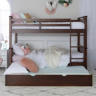 Taylor & Olive Como Solid Wood Twin Bunk Bed with Trundle Bed