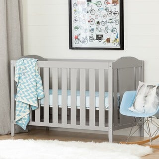 South Shore Cookie Crib and Toddler's Bed, Soft Gray