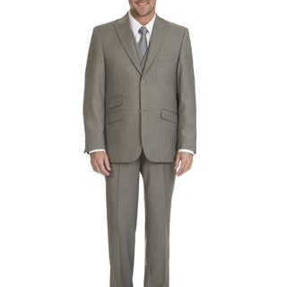 Blu Martini Men's 2-button 3-piece Suit (Option: Silver)