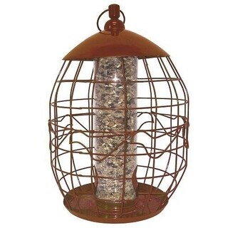 North States Copper Squirrel-free Tube Birdfeeder