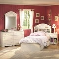 South Shore Summer Breeze 4-Piece Bedroom Set, White Wash