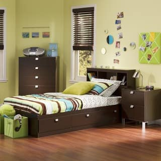Bedroom Sets With Storage. South Shore Spark 3 Piece Kids Bedroom Set  Twin Chocolate Storage Bed Sets For Less Overstock com