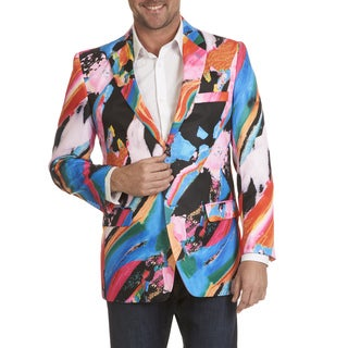 Blu Martini Men's Abstract Print Sports Coat (Option: S)