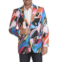 Blu Martini Men's Abstract Print Sports Coat