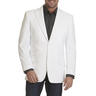 Stacy Adams Men's Seersucker White Rayon Blend 2 Button Sports Coat