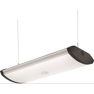 Lithonia Lighting 2-Foot. Black Indoor LED Garage Light with Integrated Motion Sensor