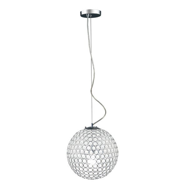 Shop Elegant Designs Chrome 12 Inch Crystal Sphere Pendant Light   On Sale    Free Shipping Today   Overstock   14792260