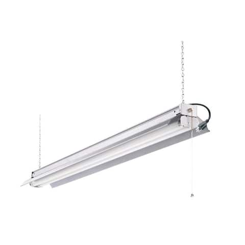 Lithonia Lighting 1242ZG RE All Season 4 ft. 2-Light Grey T8 Strip Fluorescent Shop Light