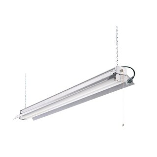 Lithonia Lighting 1242ZG RE All Season 4 ft. 2-Light Grey T8 Strip Fluorescent Shop Light