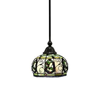 Capella 8-inch Tiffany-Style Piped Pendant Lamp
