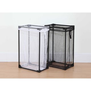 StorageManiac Portable Laundry Hamper with Removable Mesh Laundry Bag, Mesh Laundry Hamper for Clothes, 2-Pack, Black and White