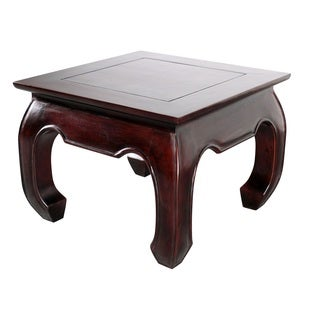Handmade NES Opium Solid Mahogany 20-inch Side / End Table