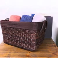 Brown Tapered Rectangular Basket with Liner (6-Pack)