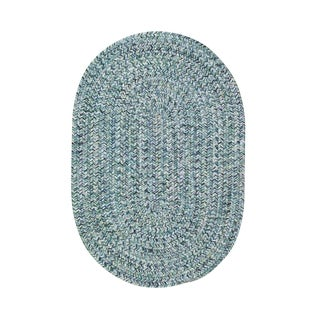 Malibu Oval Made to Order Braided Rug Blue (2' x 3')