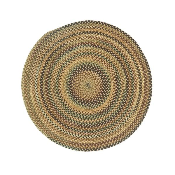 Shop Eze Round Made To Order Braided Rug Beige 36 Inch