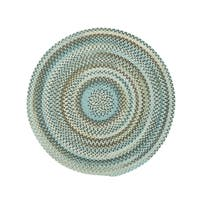 Cane Round Made to Order Braided Rug Tan/Mixed (36-inch)