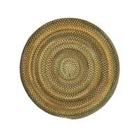 Amaliea Round Made to Order Braided Rug Green (36-inch)