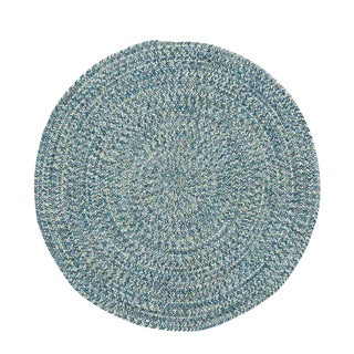 Malibu Round Made to Order Braided Rug Blue (5' 6)