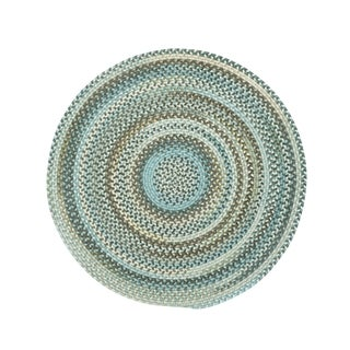 Cane Round Made to Order Braided Rug Tan/Mixed (5' 6)