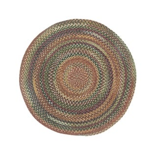 Cane Round Made to Order Braided Rug Multi (5' 6)