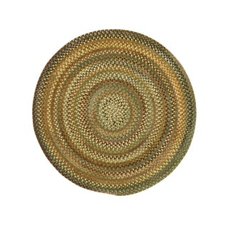 Amaliea Round Made to Order Braided Rug Green (5' 6)